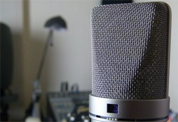 Voice-over recording with Neumann u 87