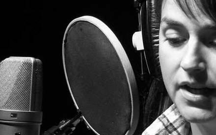 Voice-over recording session with Neumann U87 Ai